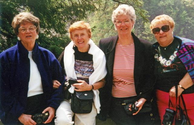 Adine, Joan, Barbara, Flossie - lifelong friendship!