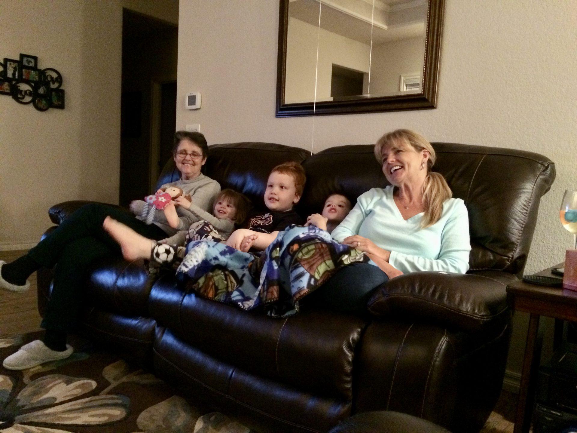 Granny, Ava, Landon, Mason, Sandy