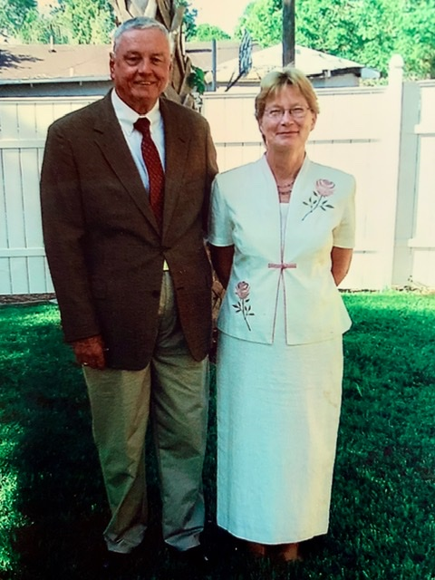 Frank and Pam on their wedding day.<br /> I was privileged to have witnessed their beautiful sunrise ceremony on the beach near their house.