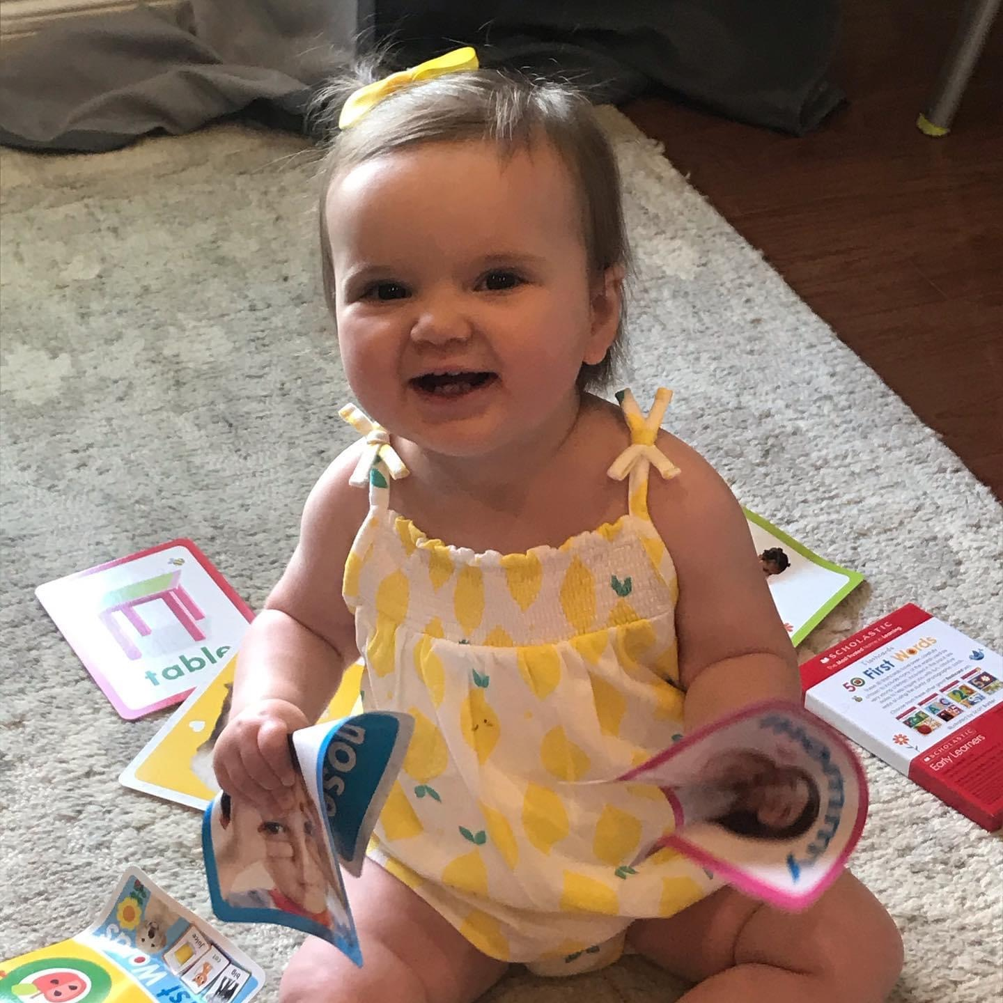 """Frank's great grandniece , Emily, now 15 mos.  (Jill and Jim's granddaughter)<br /> Frank told me several times, """"If I knew I was gonna live this long, I would've taken better care of myself!"""""""