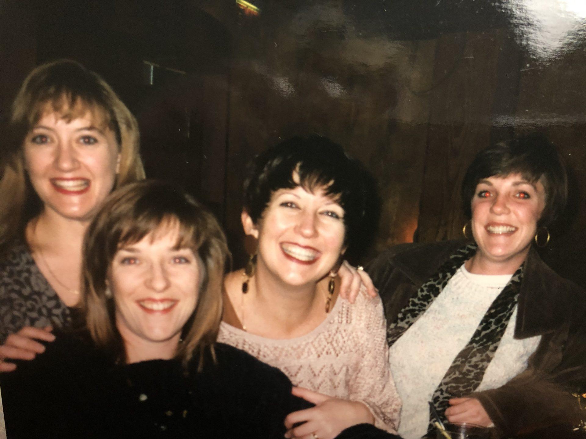 Karen and Gail visiting Chicago.