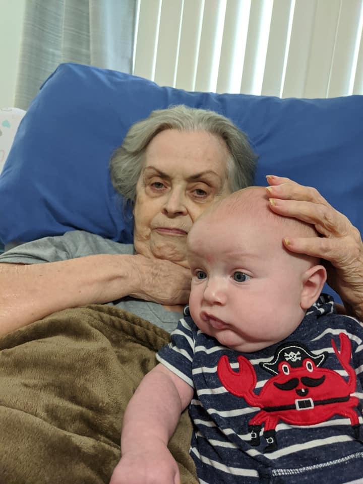 Meeting her Great Grandson Hayden