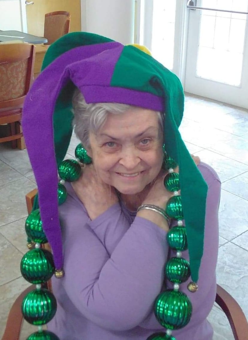 Mardi Gras at Assisted living home