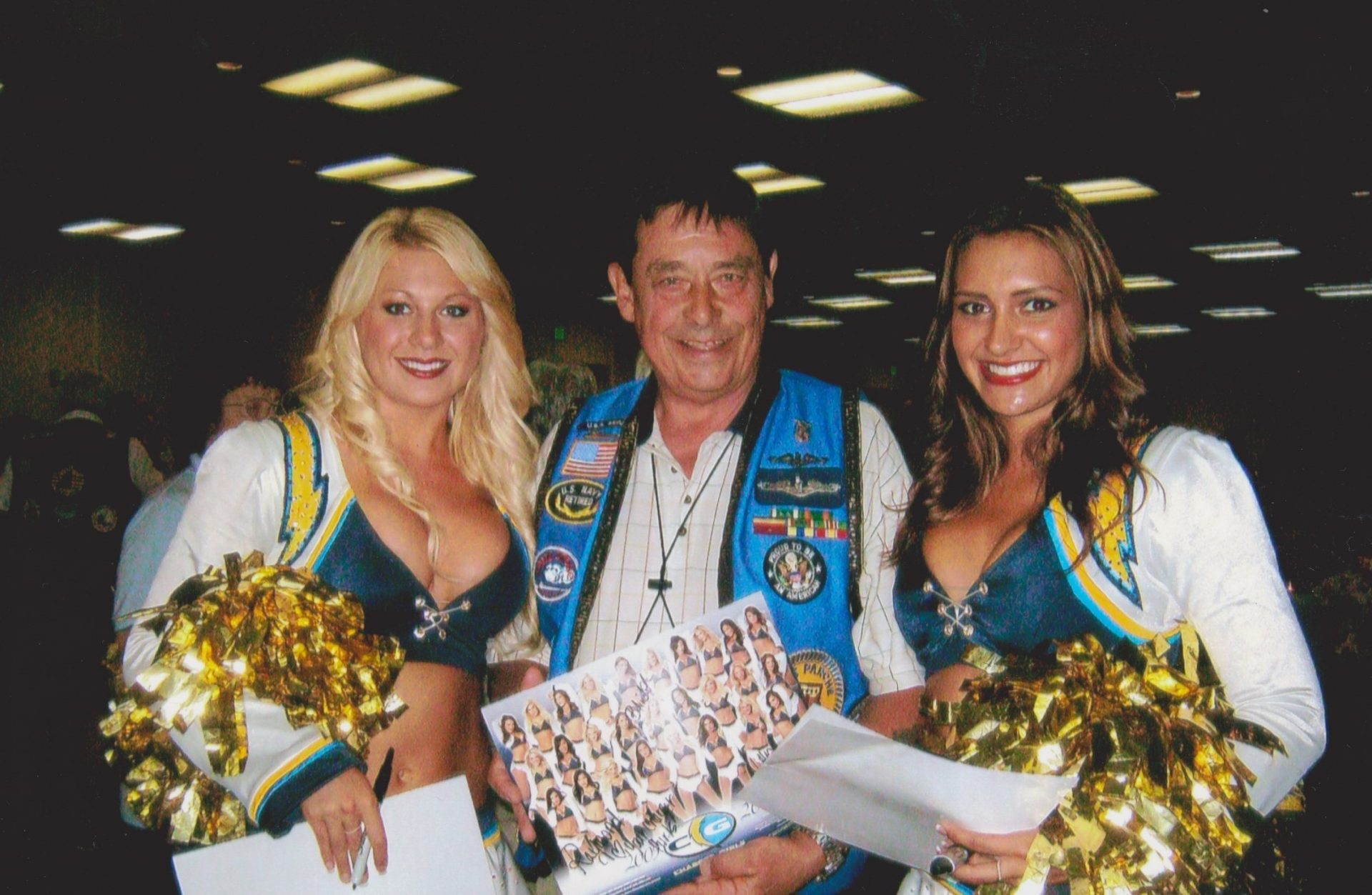 Russ with San Diego Chargers Cheerleaders