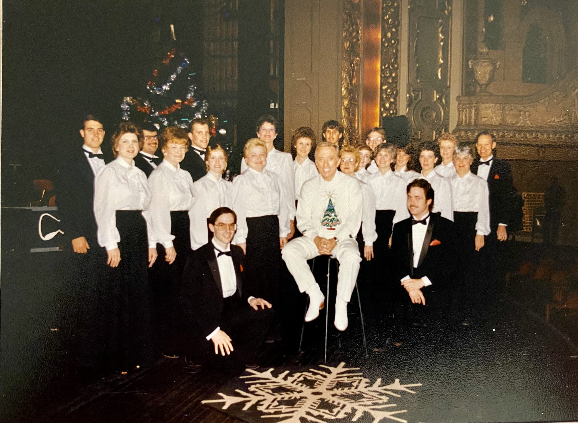 The Joliet Chamber Choir with Andy Williams - Ann is right behind him in the photo.