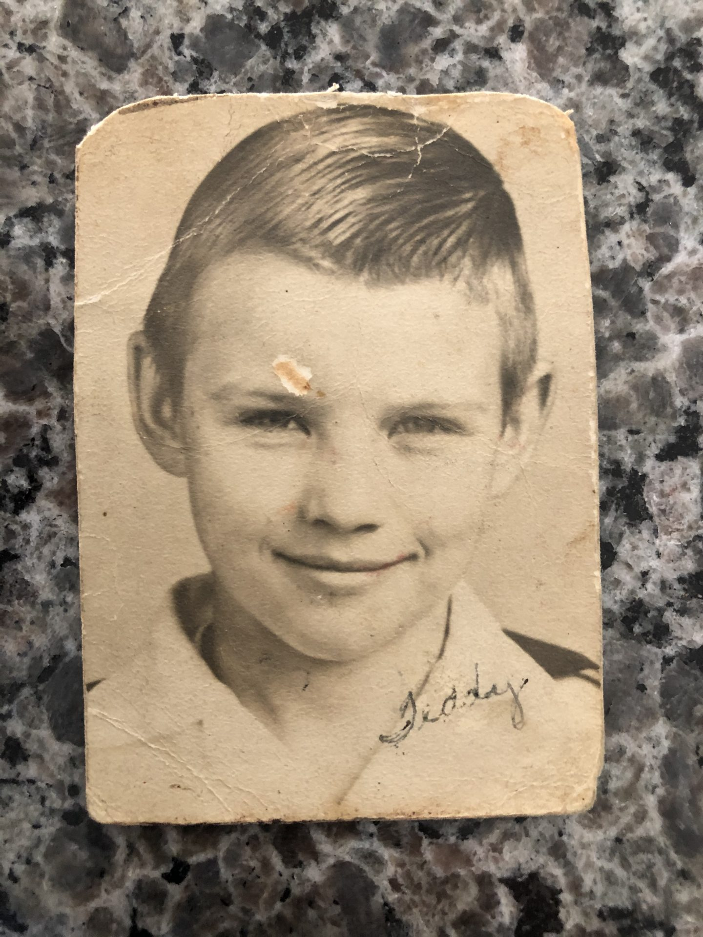 Dad at the age of 10 or 11 (1947)