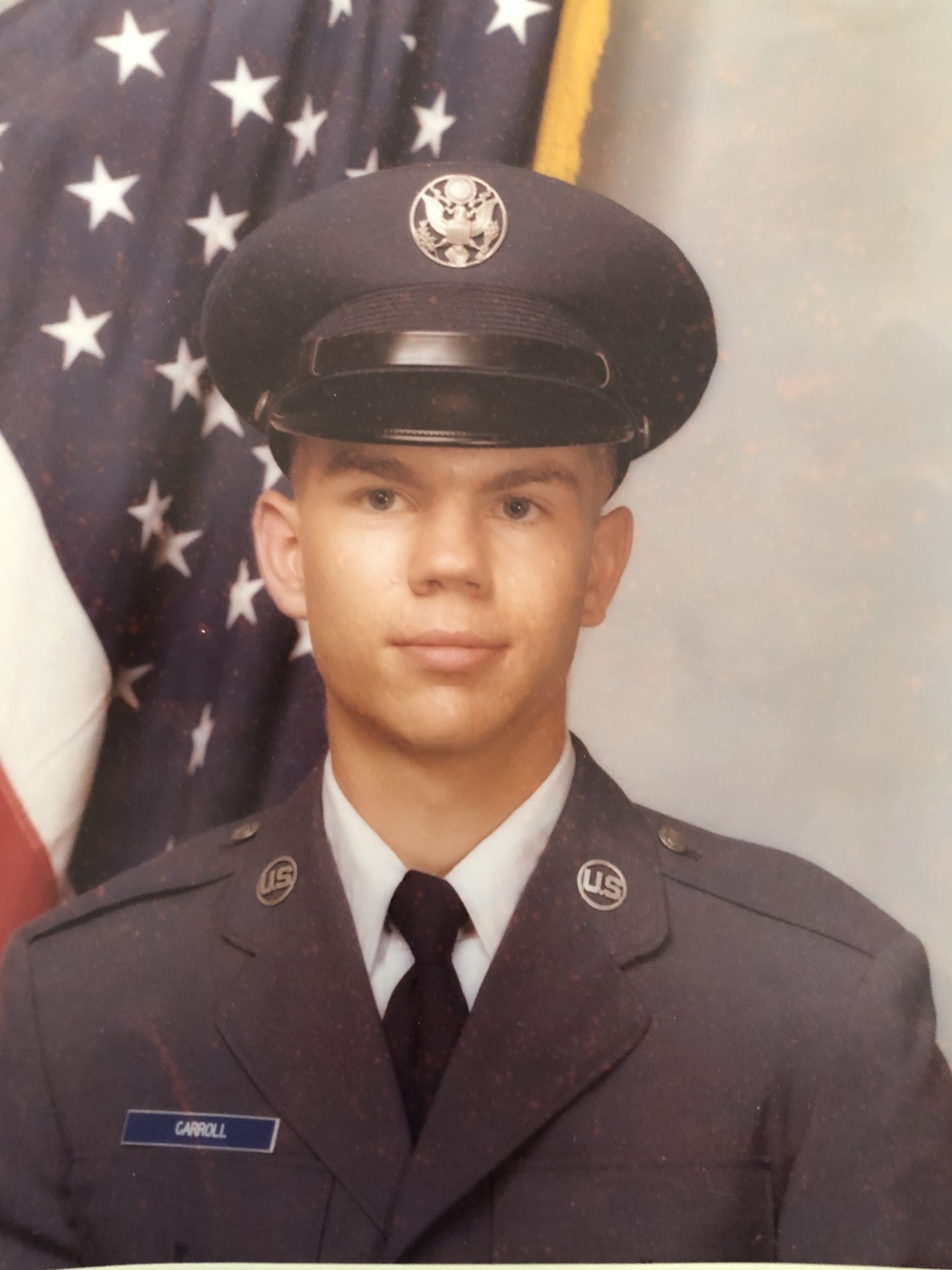 Ben Jr.'s Air Force basic training photo ( at 19 also, 1981) for comparison!