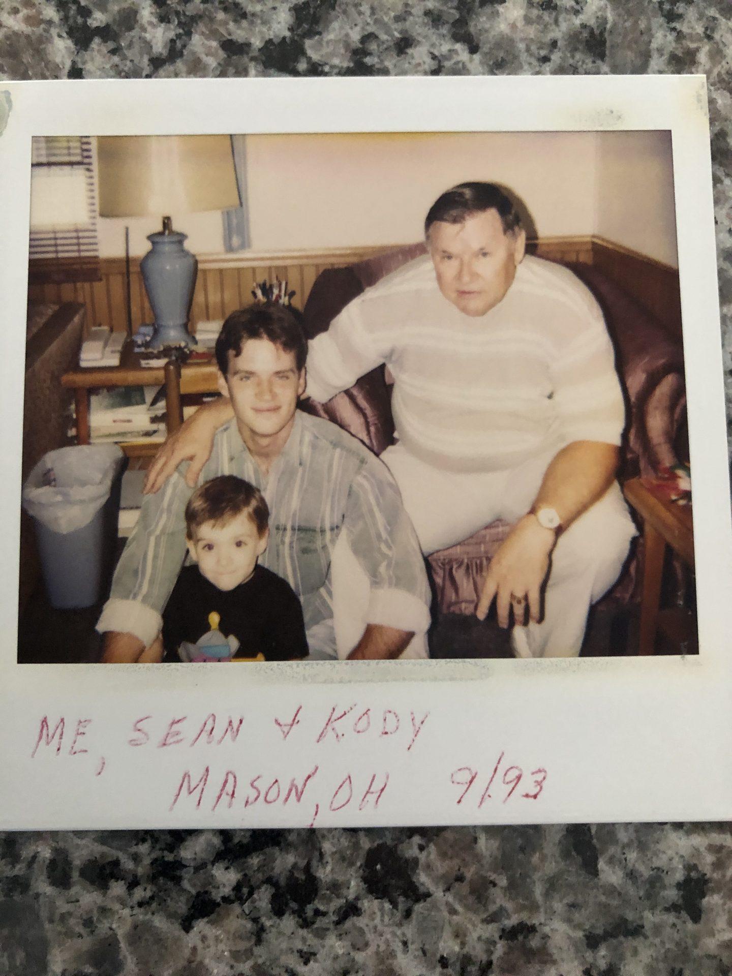 Dad, Sean and Kody,around 27 years ago!