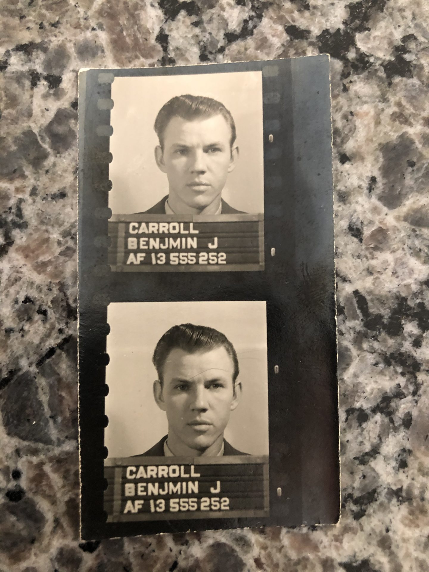Dads Air Force passport photos I believe. Probably 1956 , 19 years old.GQRE