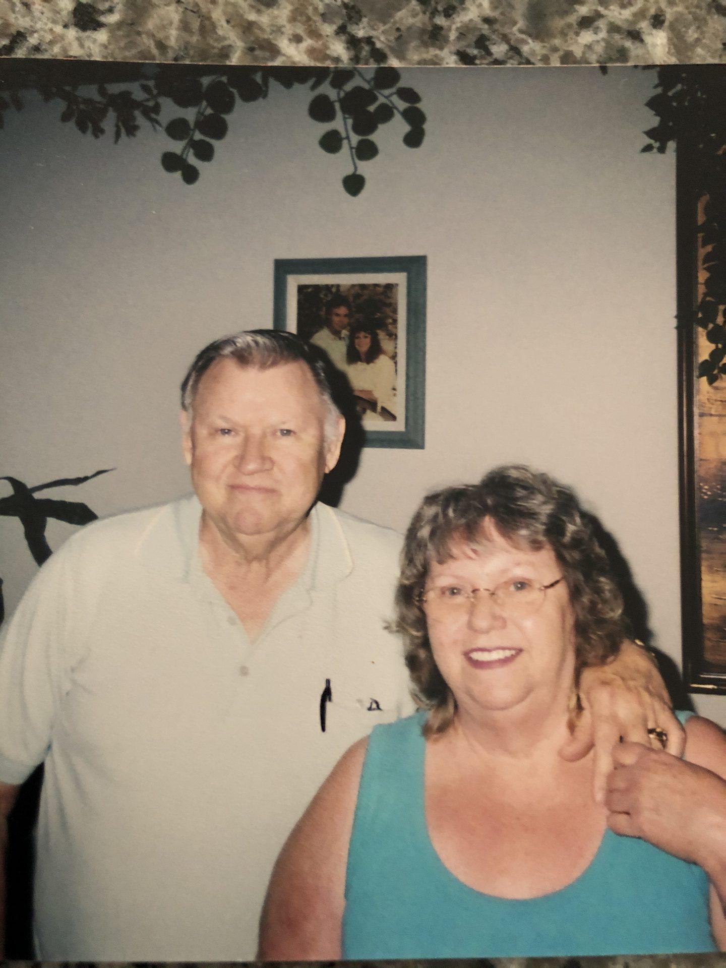 Dad and sister Pat