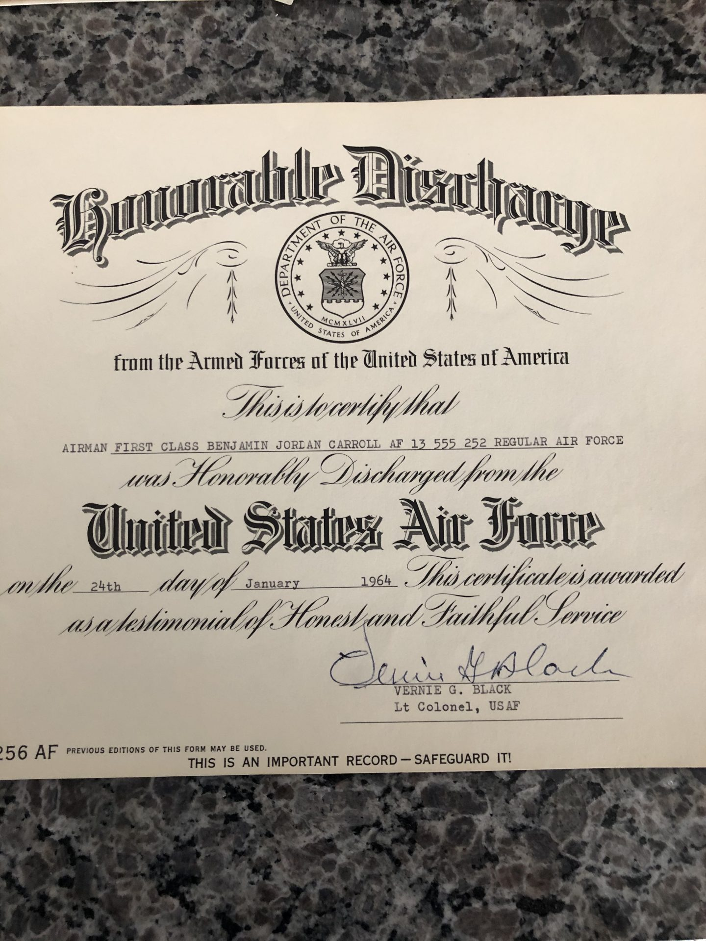 2 of 2 honorable discharges.<br /> Show off, I only got one! LOL