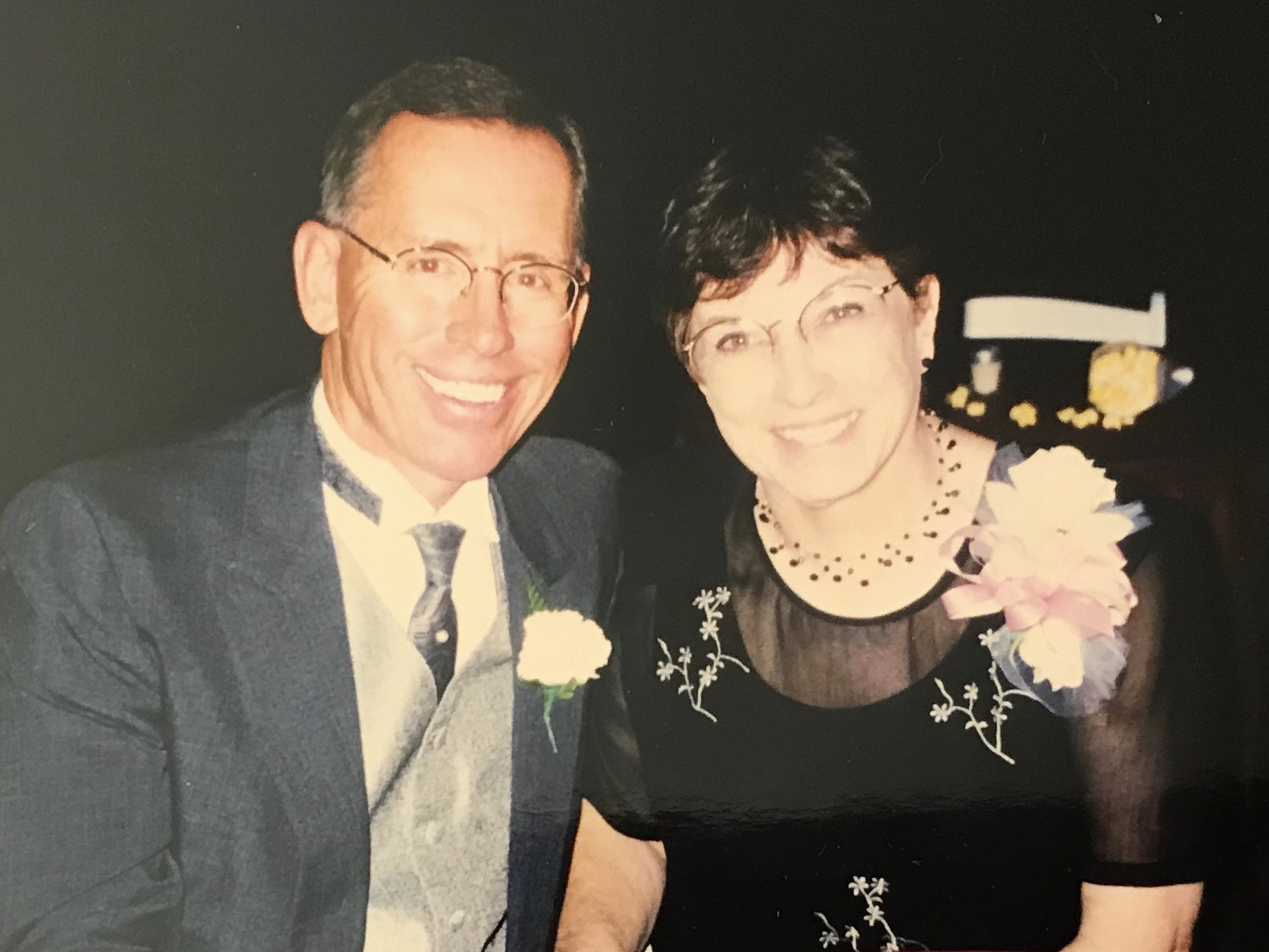Patti and Wally in 1999 at Ross and Bebhinn's wedding