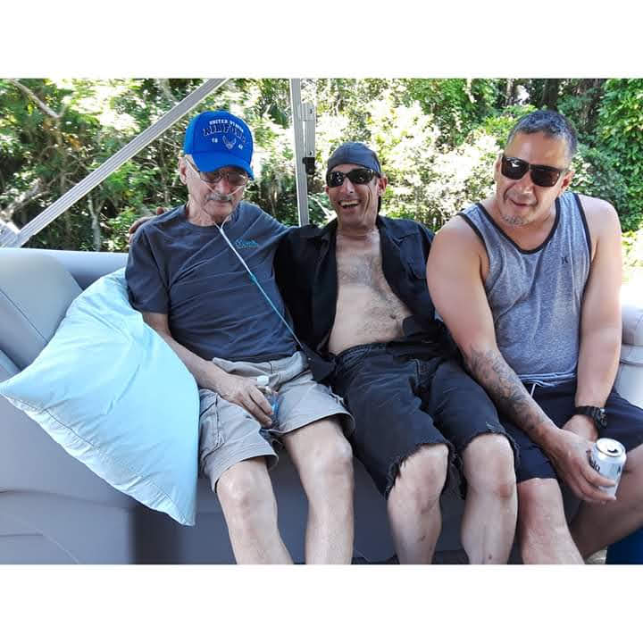 A wonderful Fathers Day that he was able to spend with his two sons