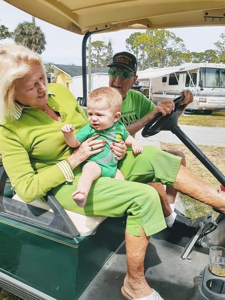 Last Golf Cart ride with Grandpa