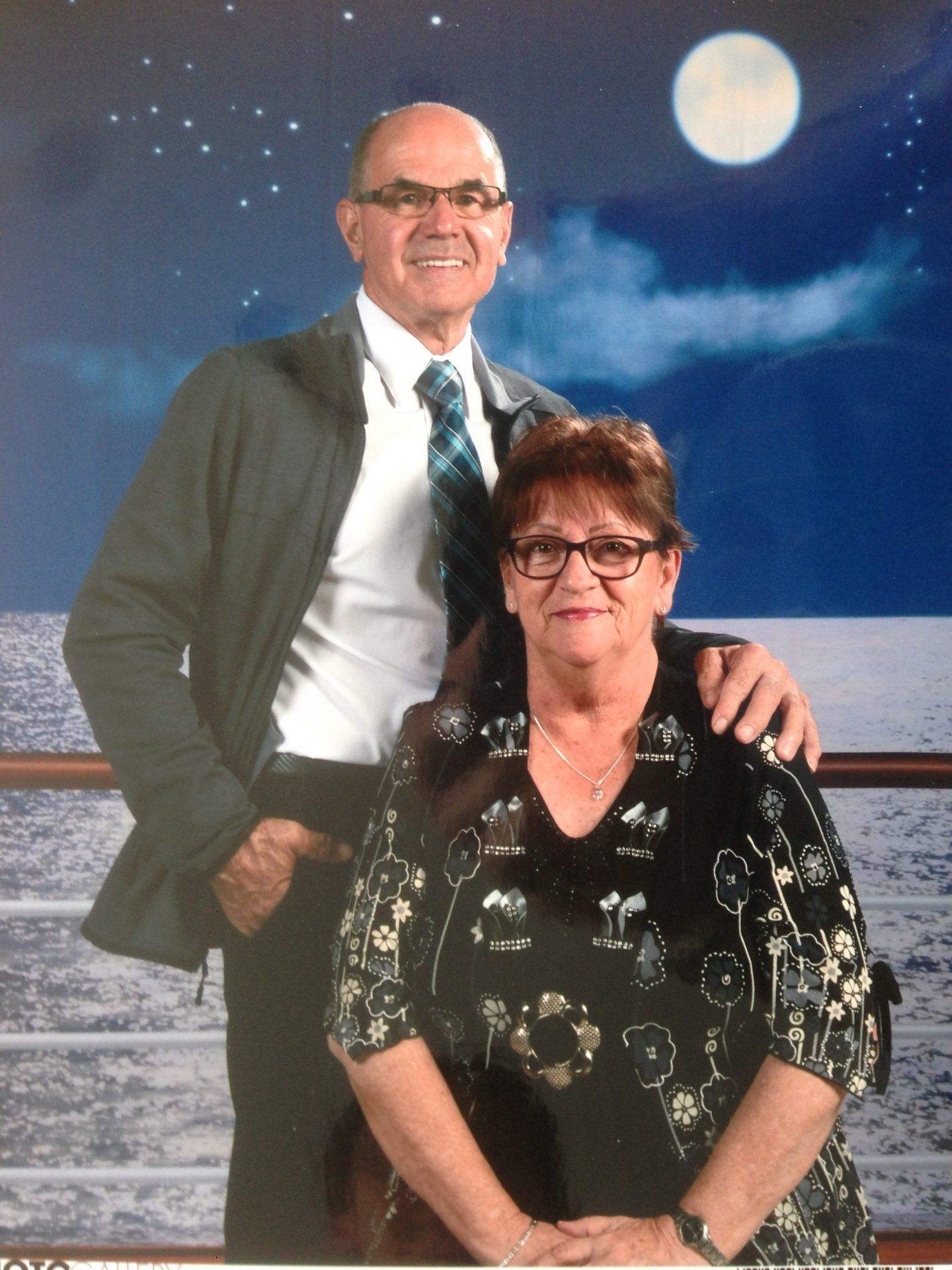 Pierrette Morin et Rosaire Vermette , voyage aux Caraibes