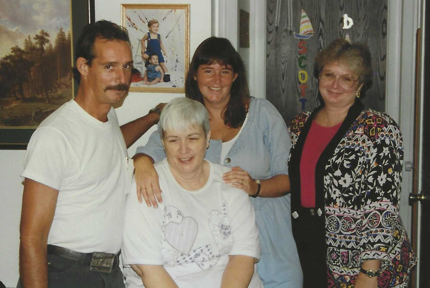 Linda with her children, Buddy, Donna and Wanda in 1996.