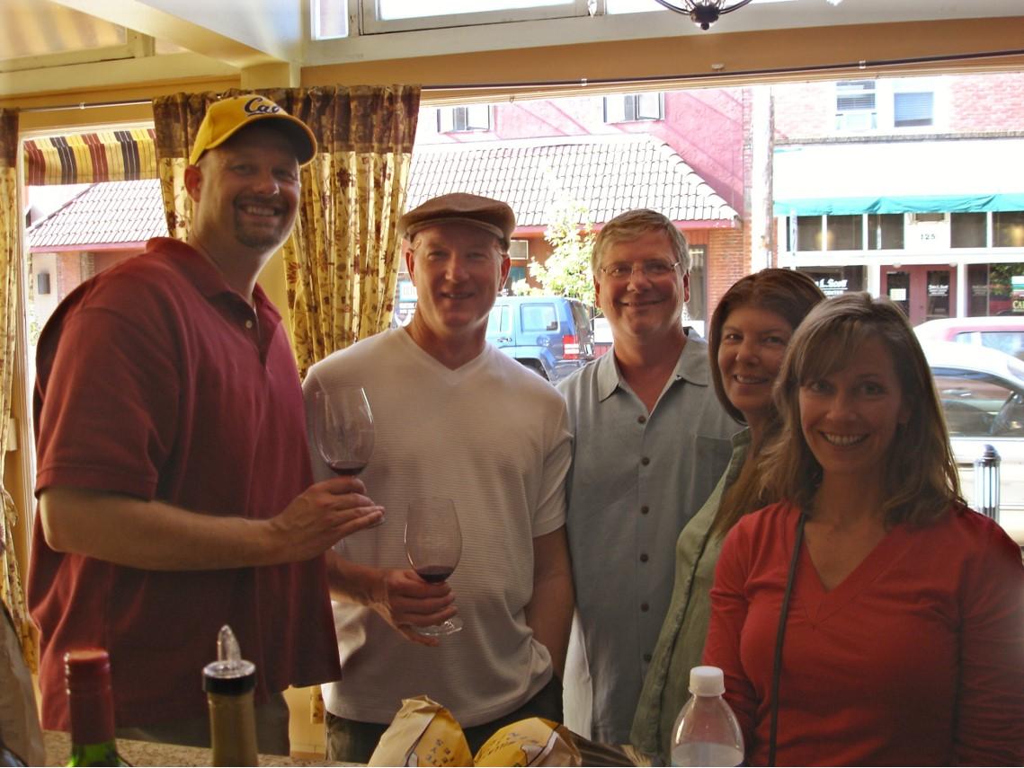 wine tasting in Oregon 2008...