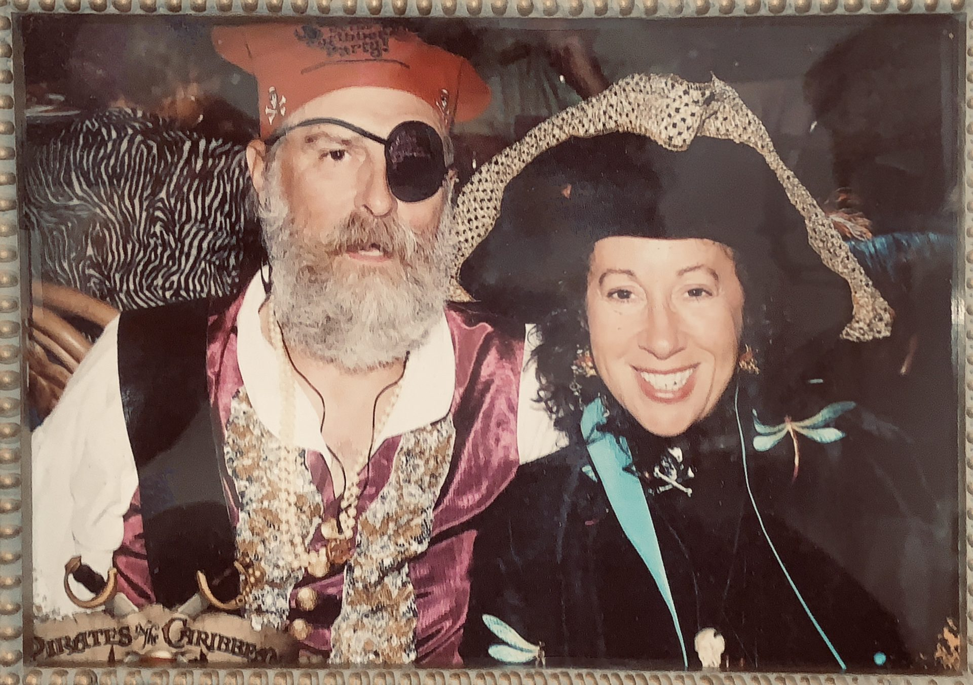 As pirates on the only cruise we ever took together.