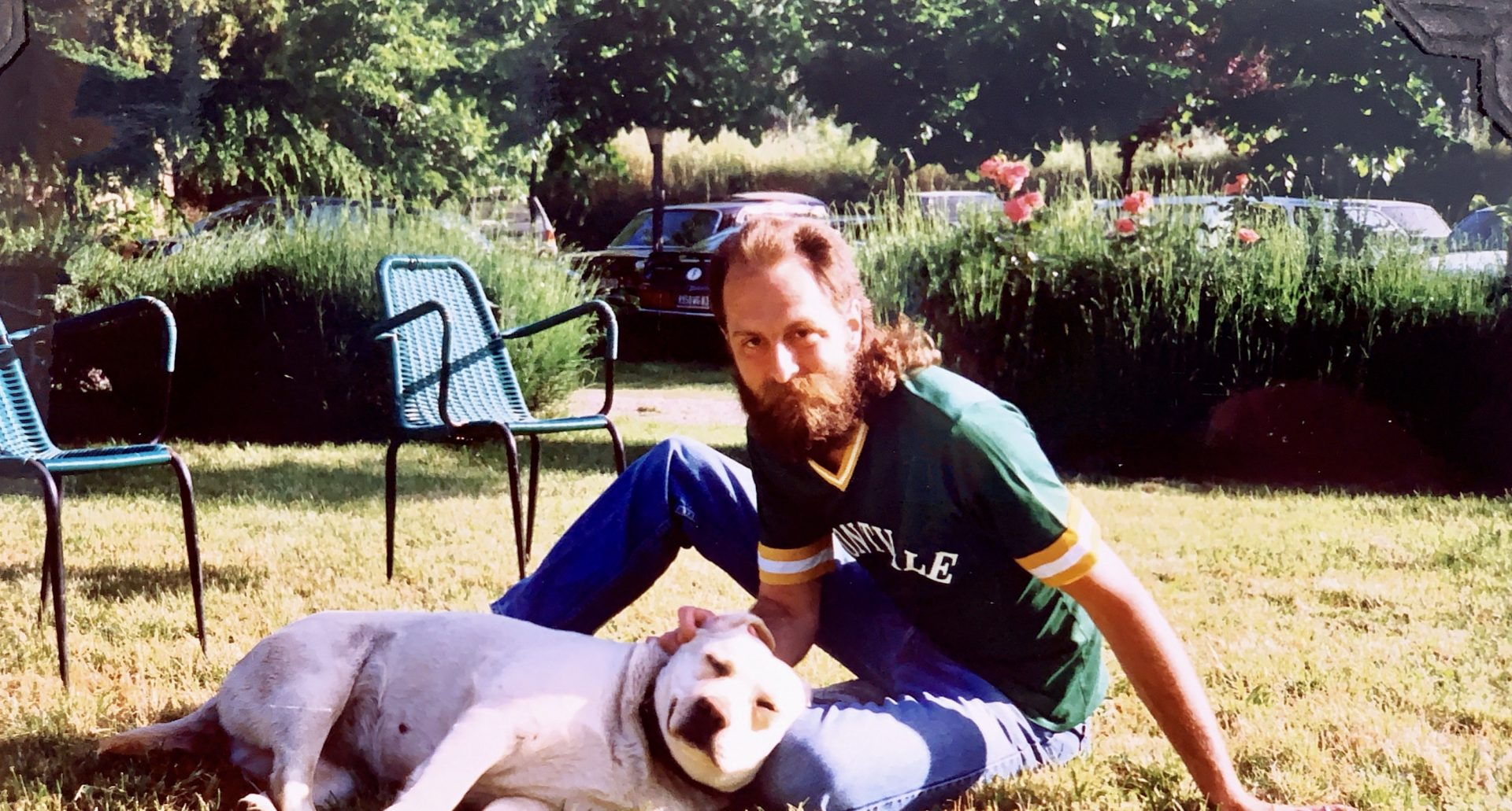 Dave loved dogs, even on our honeymoon in Italy