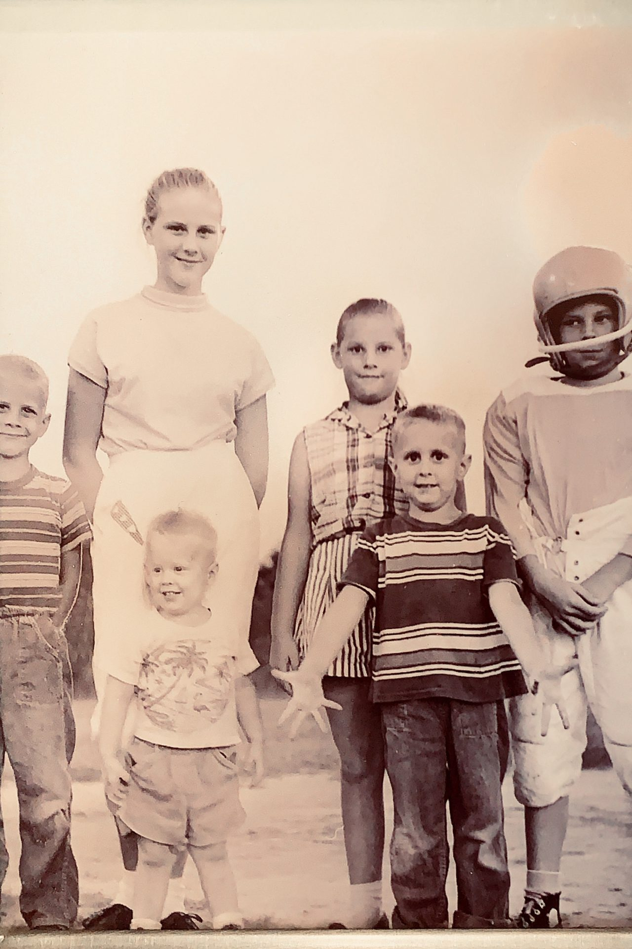 Dave and his siblings. Can you guess which one he is?(Hint:  He was an affectionate guy ).