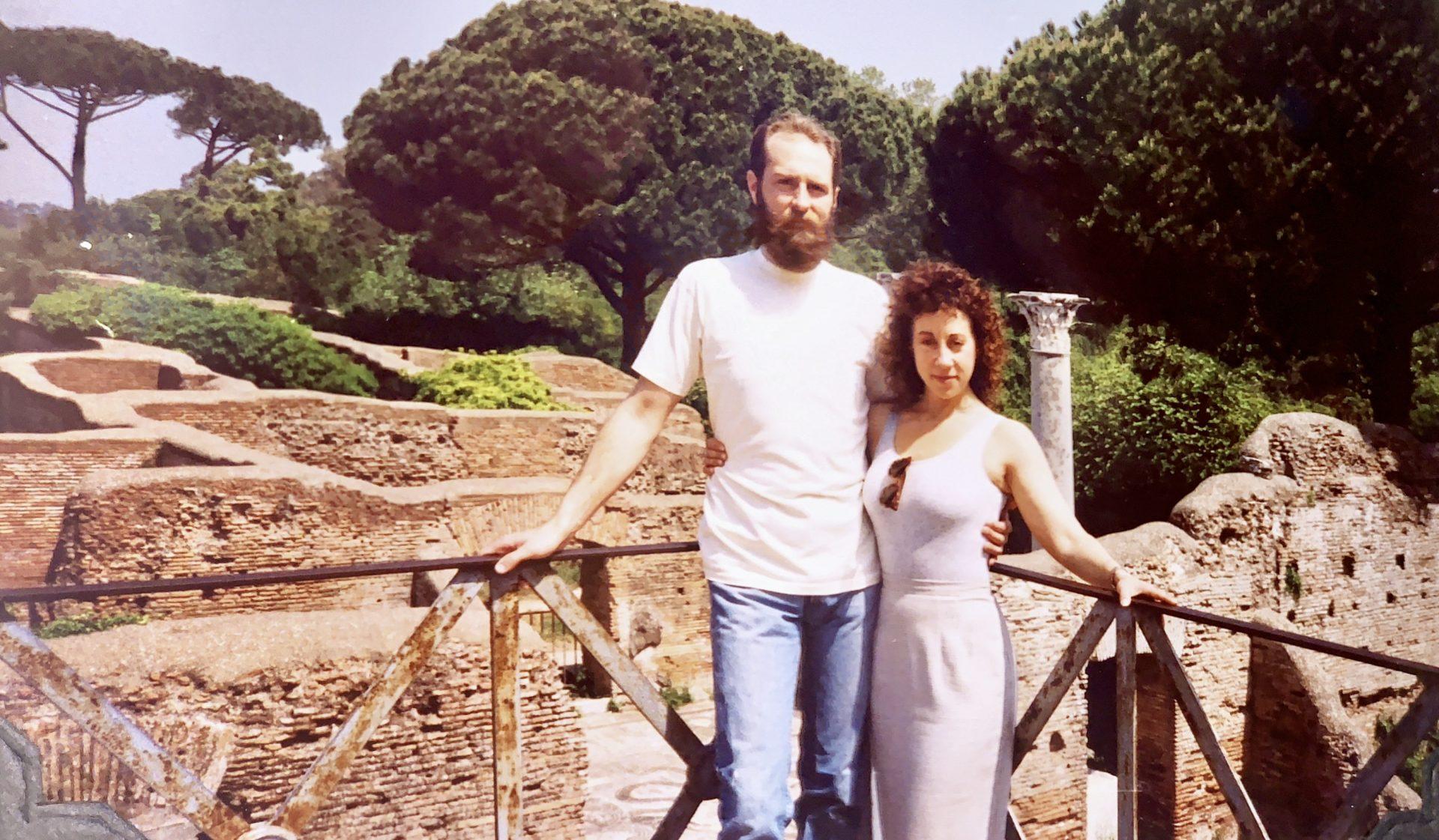 On our honeymoon