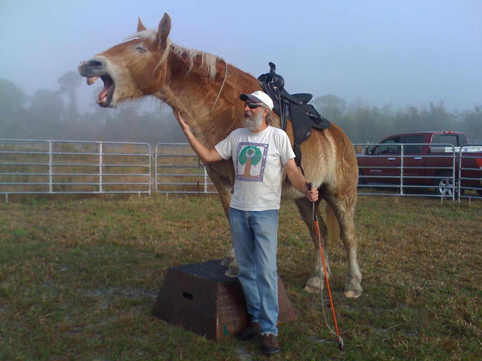 Dave with Goldi having fun