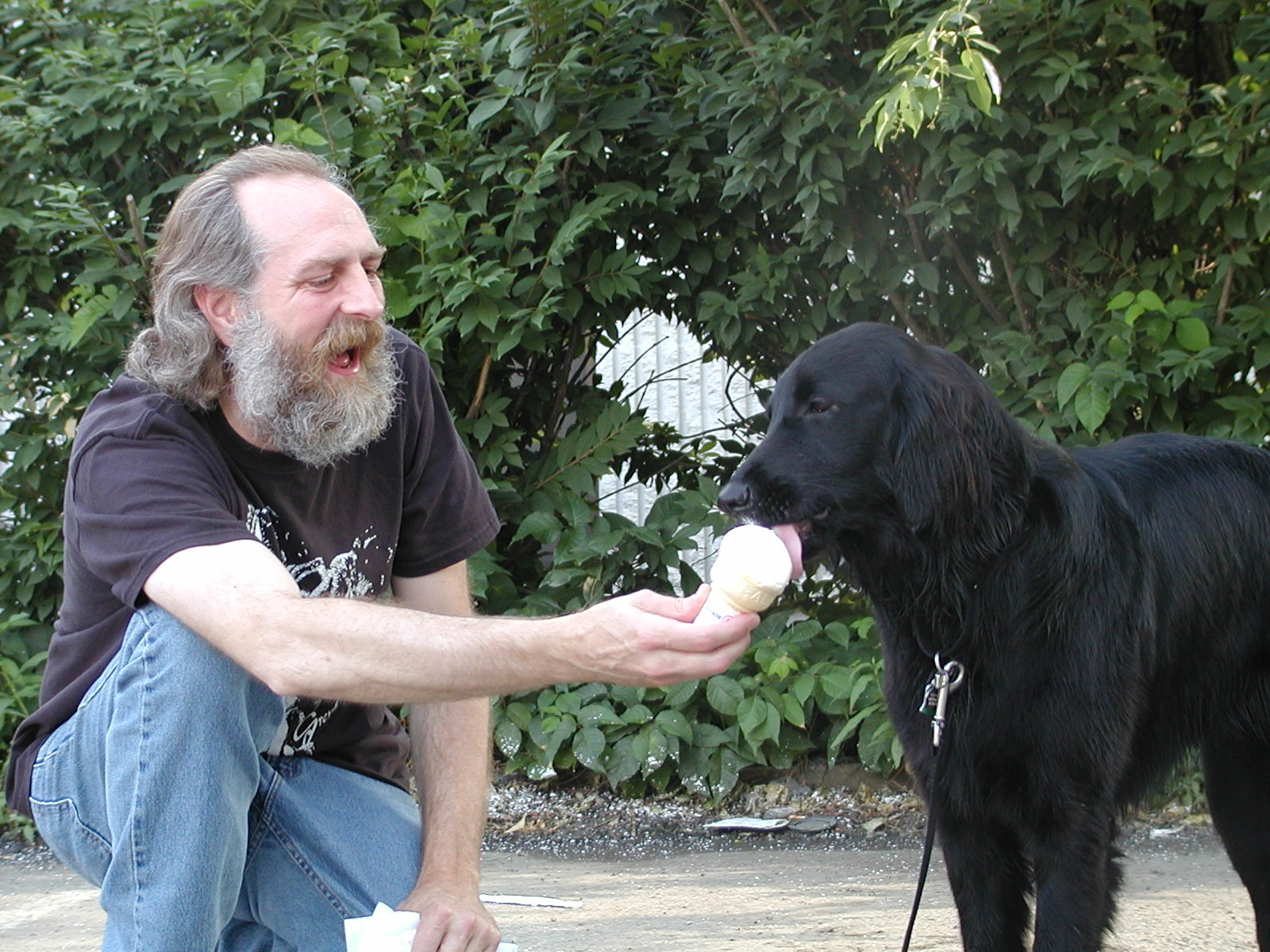 Dave and Gracie on her first birthday (2004)