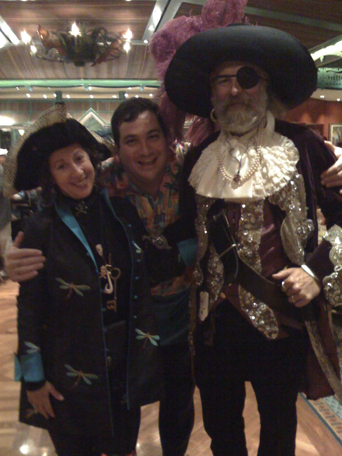Kerul and Dave as pirates on a Disney cruise