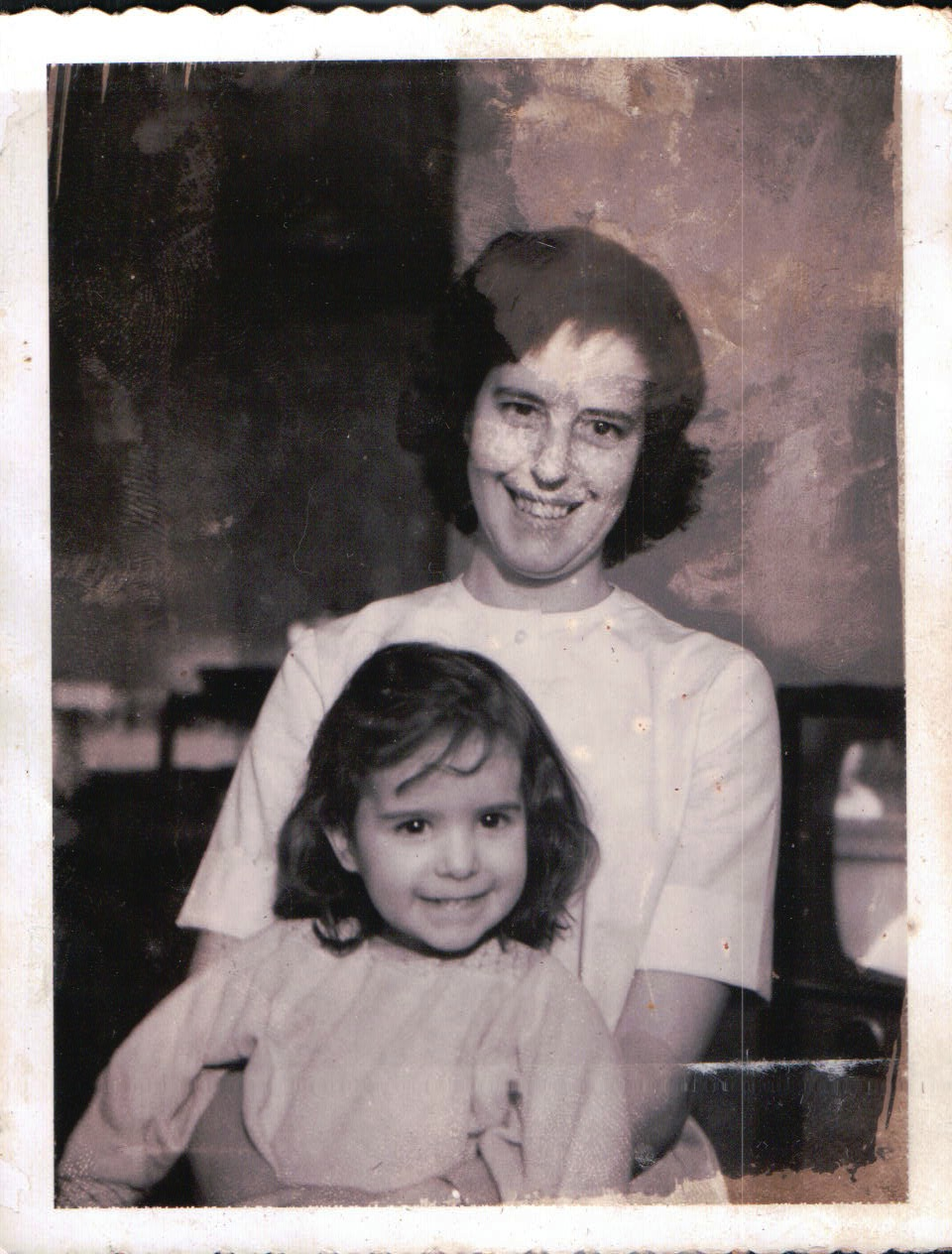 1962 - Virginia and her daughter, Sharon