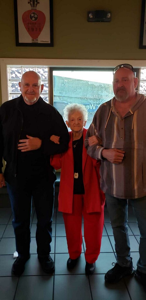 My dad, my grandmother, and myself