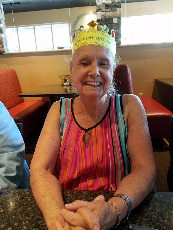 Claudette on her final birthday. RIP :(