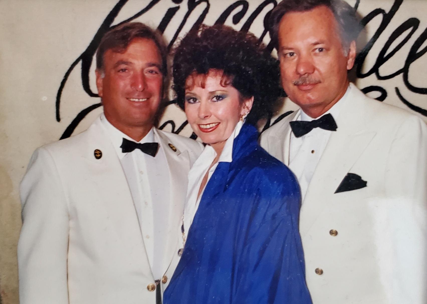 Jackie, Ron, Capt. Cesare Ditel <br /> Sitmar Cruises