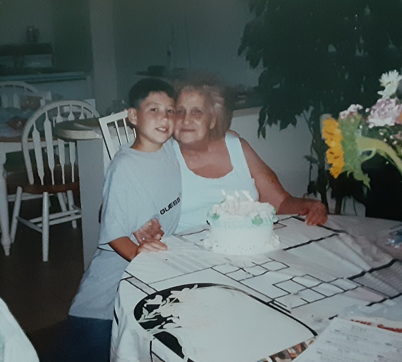 Your with Great grandmom now...who loves you so much!!!<br /> And I know you love her very much!!!<br /> You are her baby as she would call you...<br /> She was always very proud of you!!!<br /> You always were making her laugh and smile with the silly things you did...So I am sure your making her laugh and smile once again!!! We all miss and love you both so very much!!!