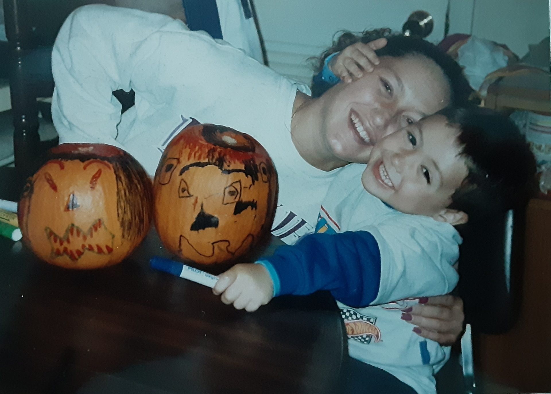 Anthony loved carving pumpkins and making faces on them...I miss you so much!