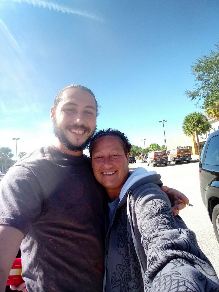 Having a great lunch break with Anthony taking pictures like he always wanted to do...lol