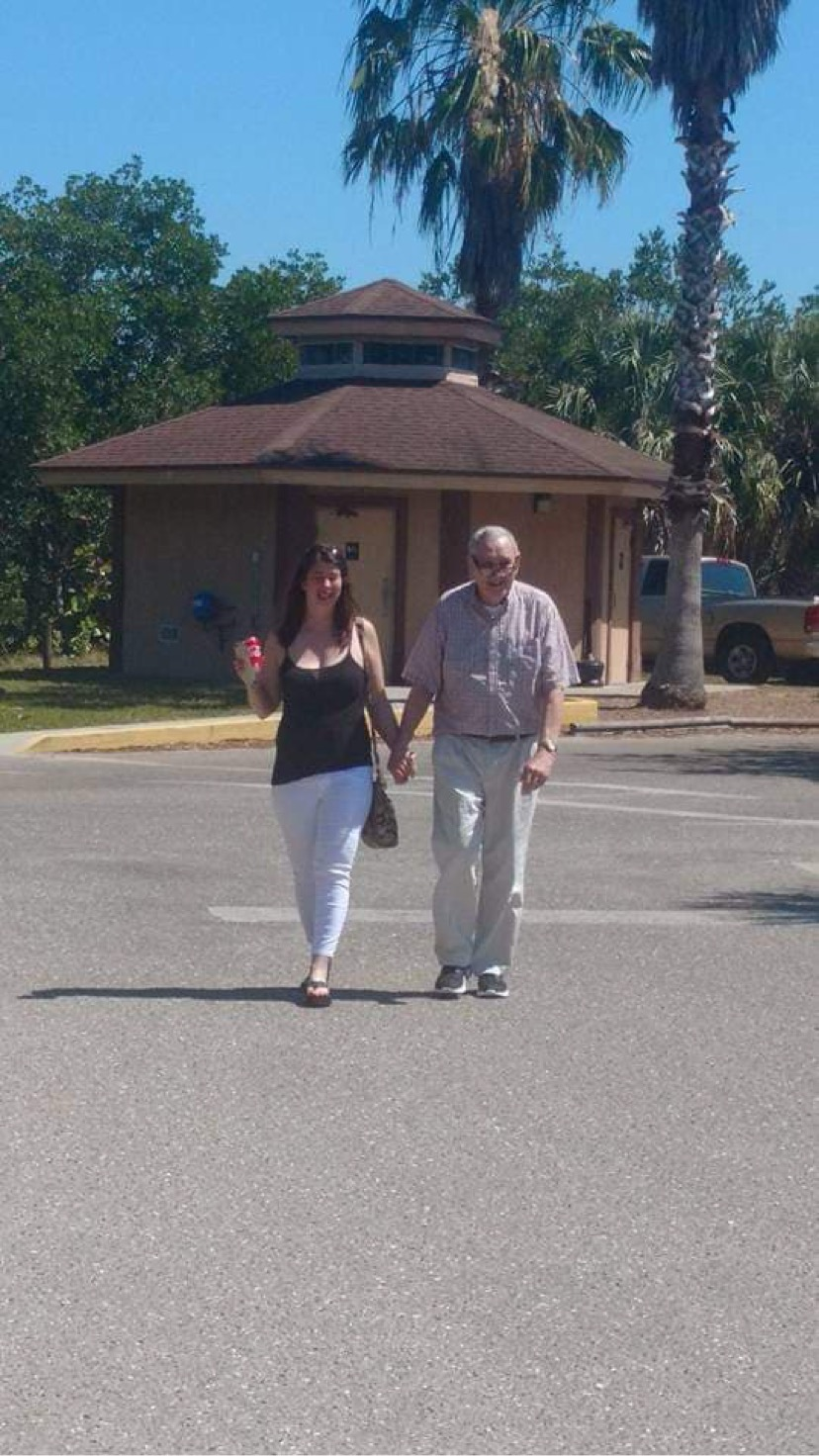 My daddy and i on what would be my<br /> last trip to see him