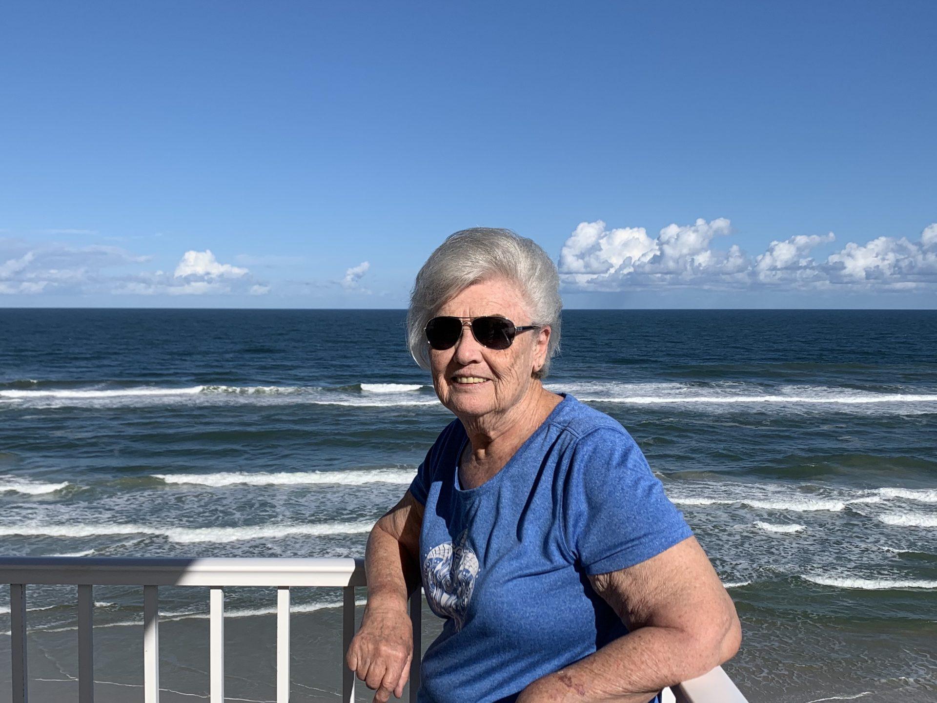 Enjoying New Smyrna Beach.