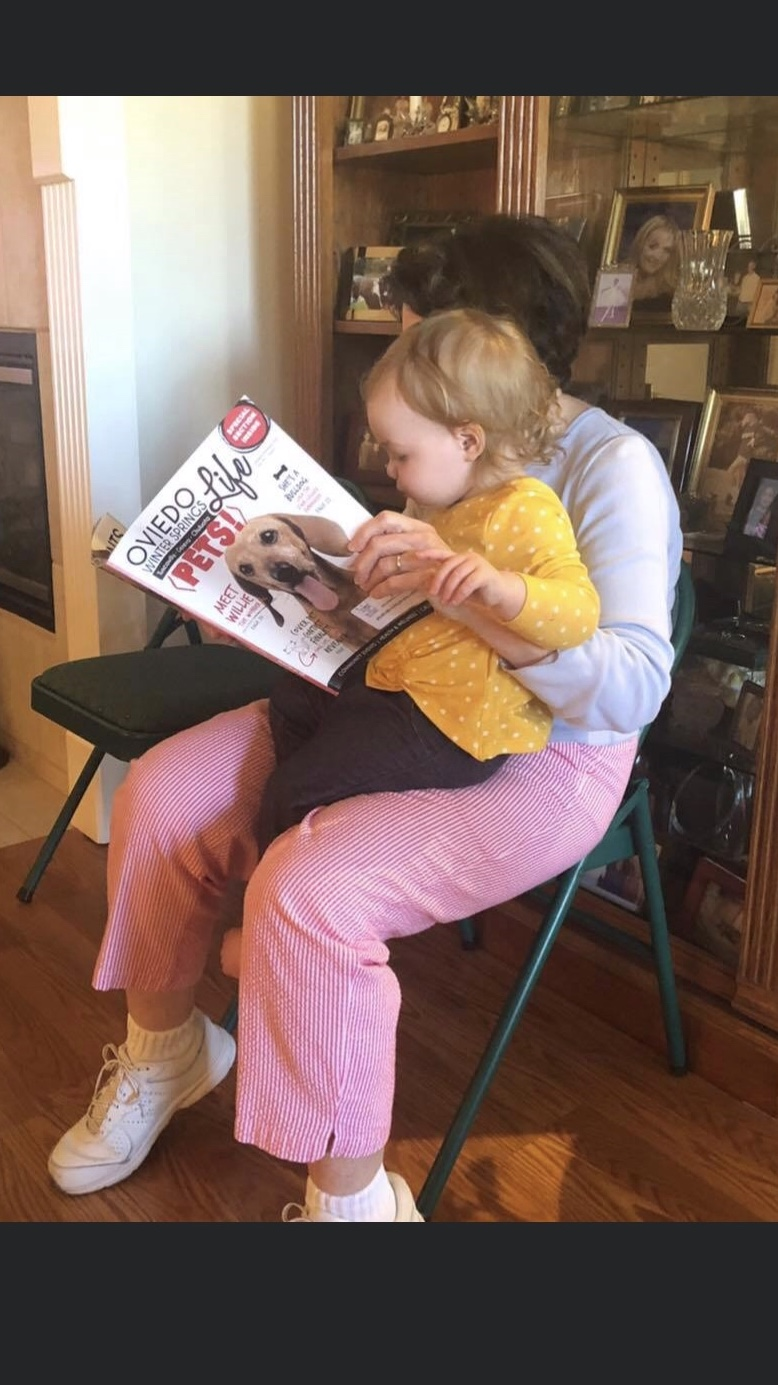 Great Granddaughter, Willow, with her Grammy ❤️❤️❤️❤️