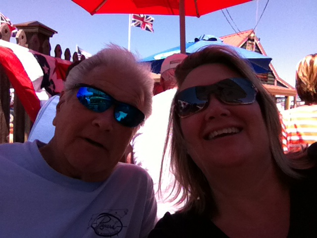 I always loved this picture of dad and I!  Enjoying the Chesapeake Bay with local favorites!
