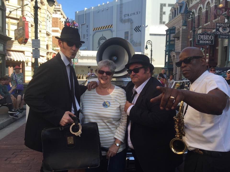 Birthday fun at Universal Studio's. The Blues Brothers band, one of your favorite shows. Good times!