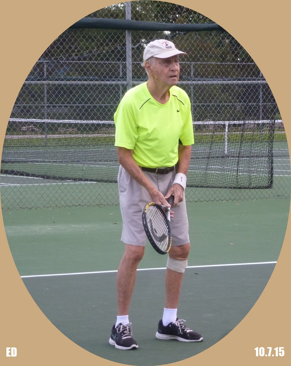 Ed playing tennis at Rutenberg....he was a good player too!