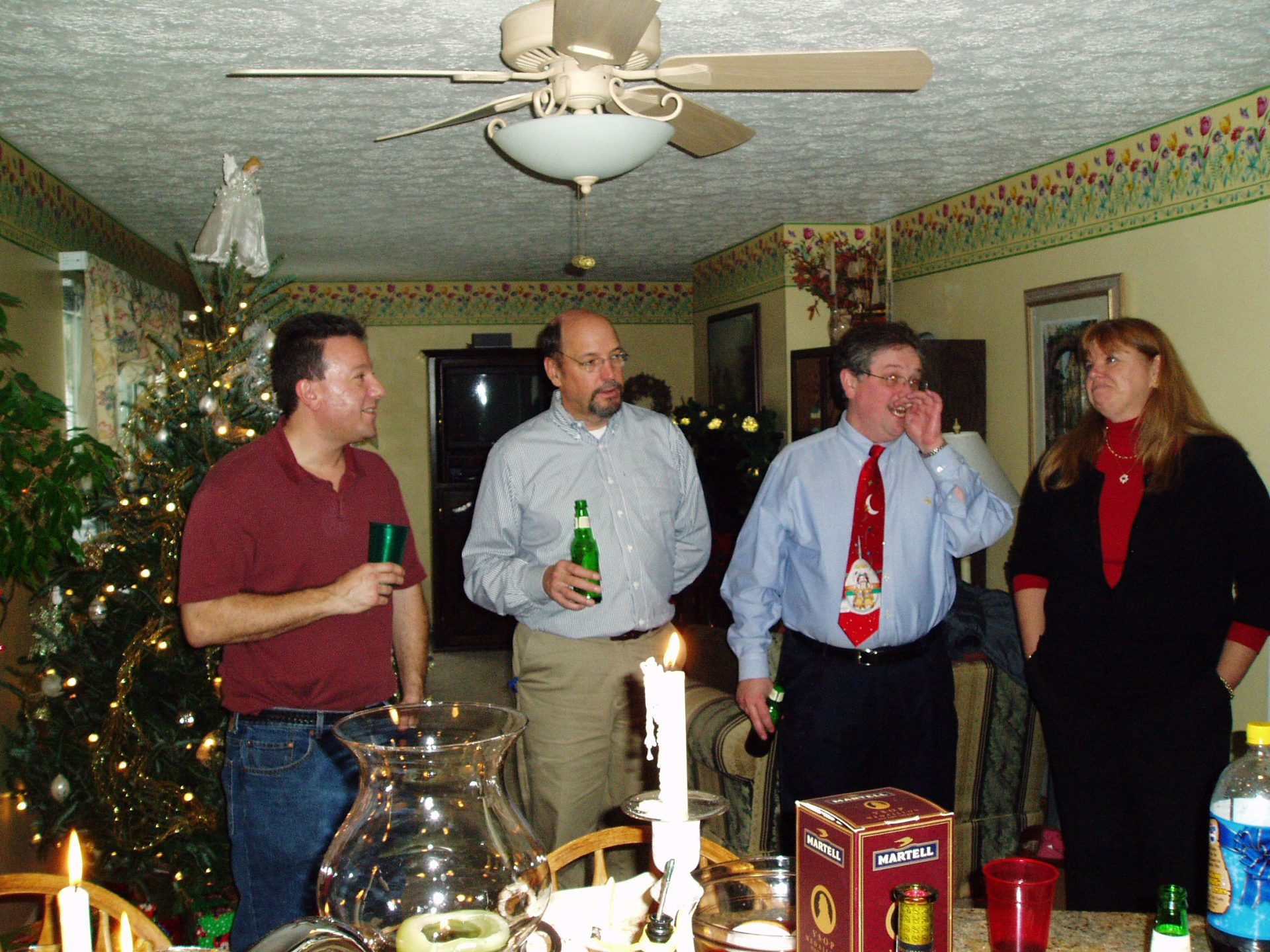 2005 Holiday Party - John Sheers, Richard Henry, Fred Foote, Sue Lyles