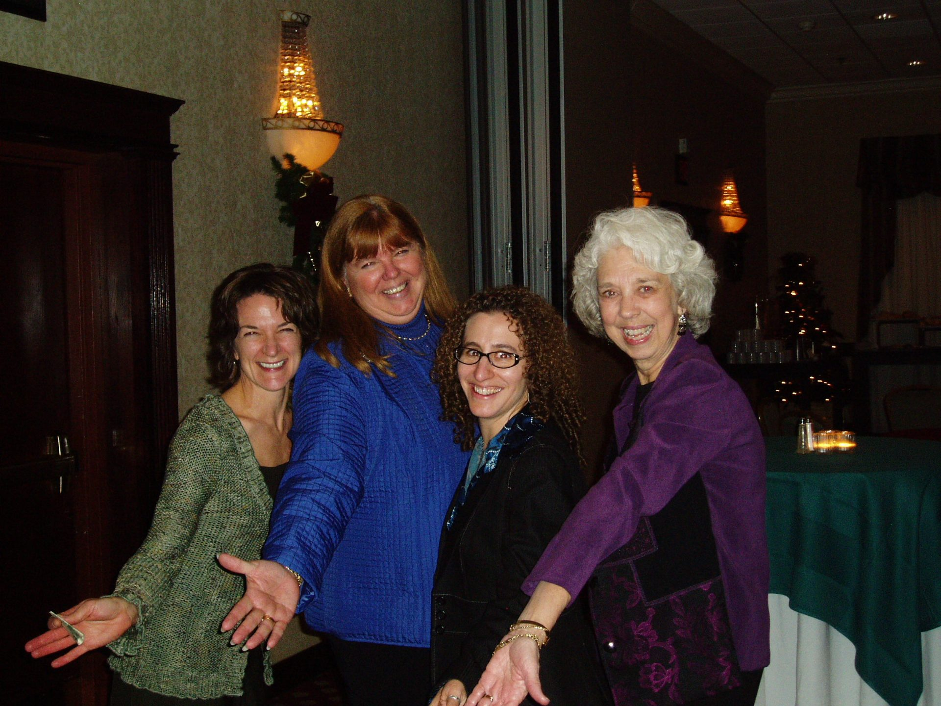 2007 Holiday Party - Marcy, Sue, Sara, Laura