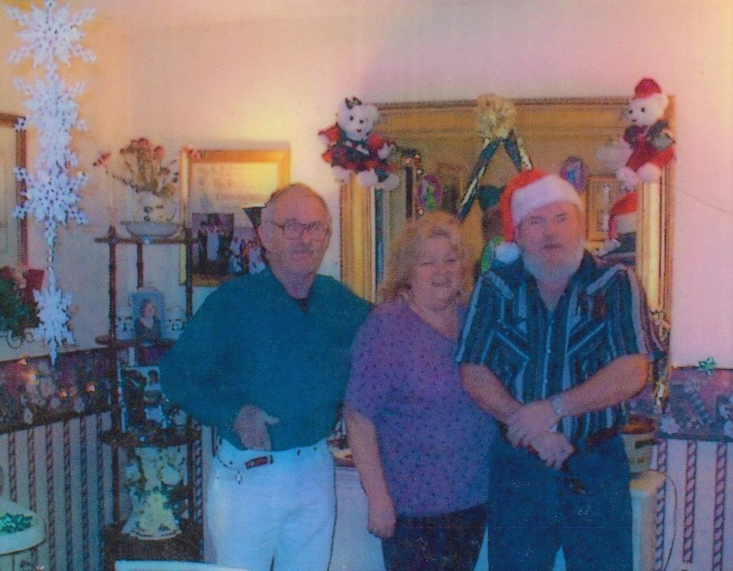 Dad, Aunt Bridget, and Uncle Buddy