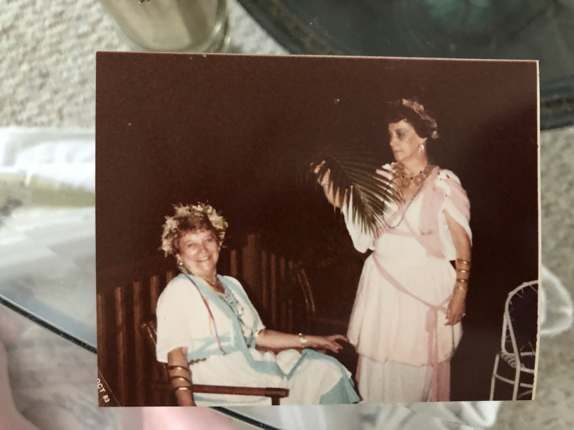 Mom with her sister Lois at an event