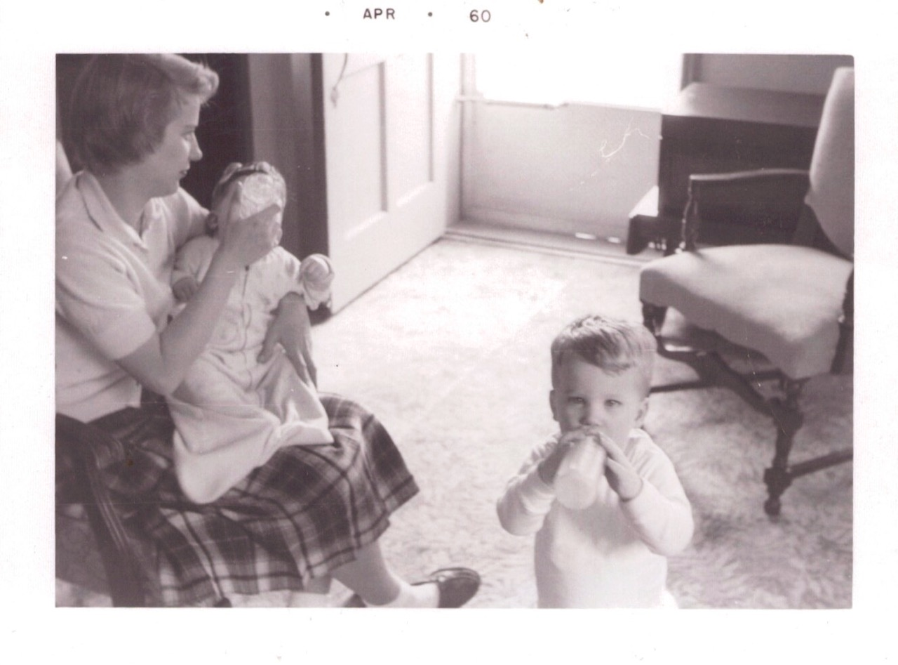 Mom and the boys...Yes, J.R., you were cute!