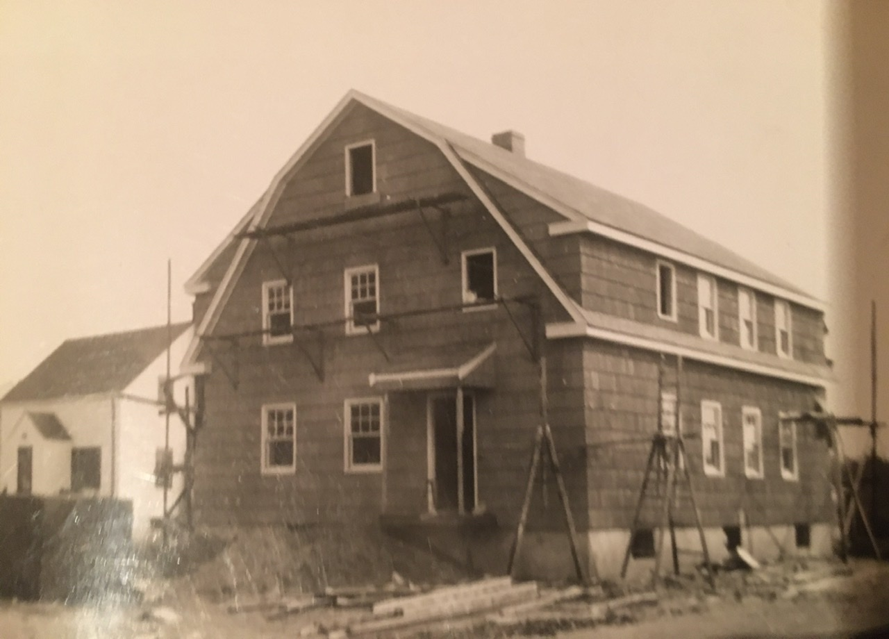 Building his father's house, Bloomfield, CT, Circa 1949
