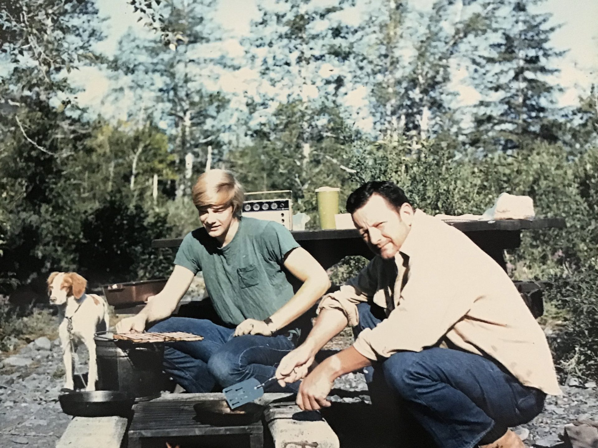 Steve and Dad, Alaska, 1971.