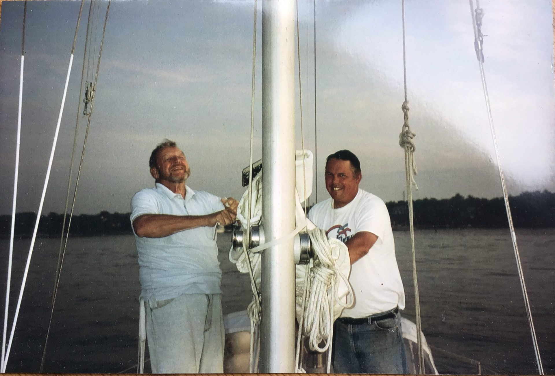 Joe and Cousin Trevor on one of many, many sails together!