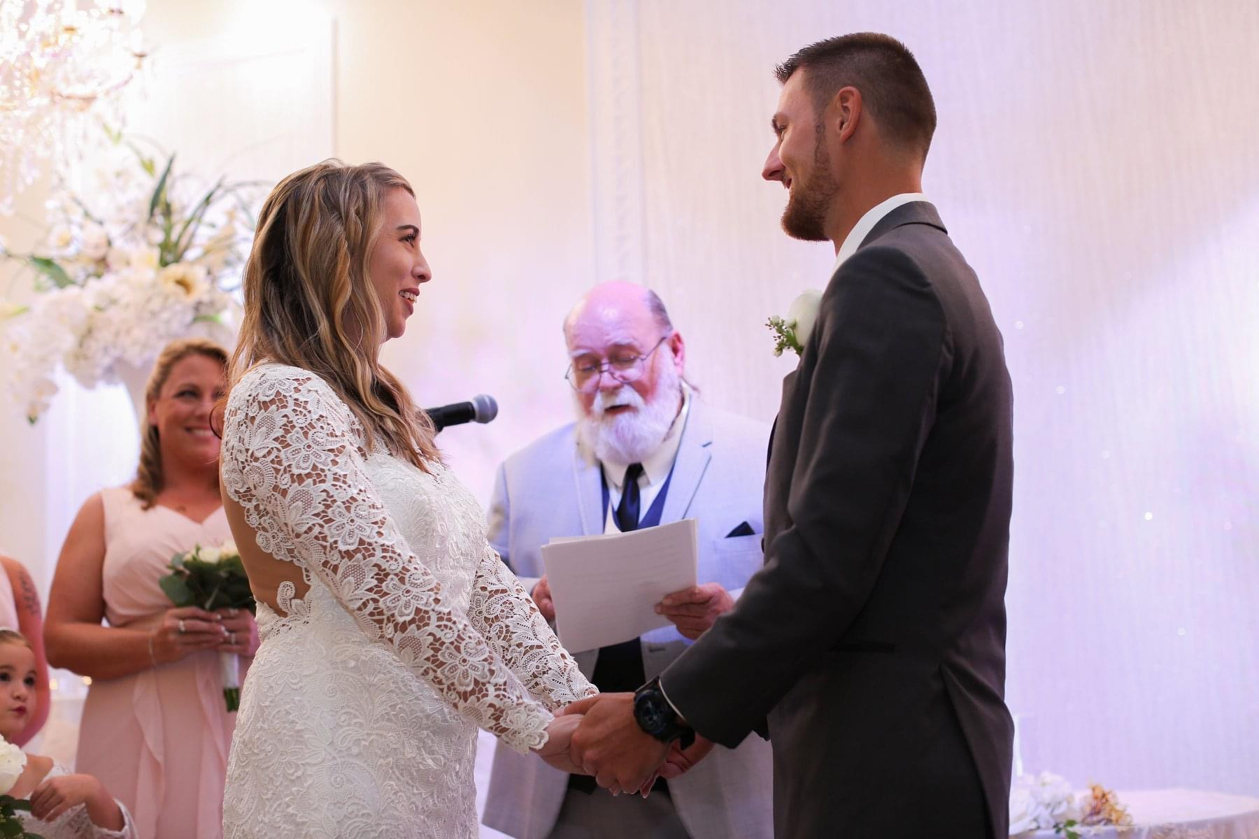 This was the most entertaining wedding I've ever been too. I loved that it was perfect in every way and you were a special part of that.  Rev. Amos
